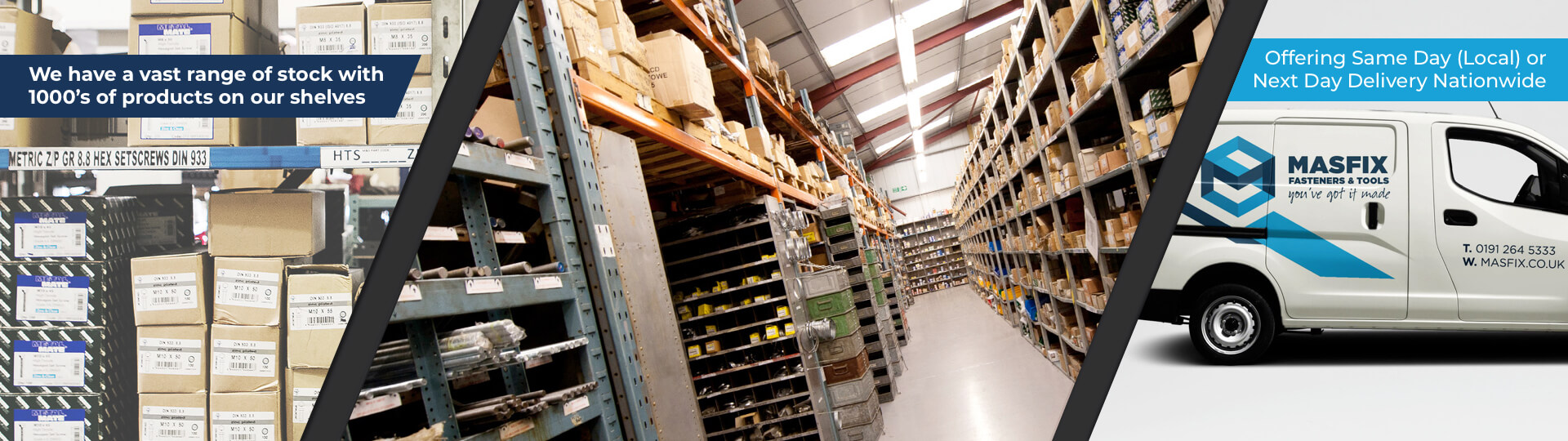 Vast Stock Range - Delivery Options Available